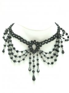 Black Faceted Bead Choker